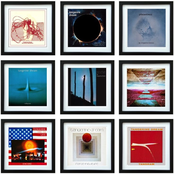 Tangerine Dream   Framed Album Art Collector Series   ArtRockStore