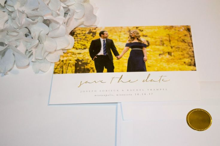 Minneapolis, Minnesota Save the Date Example with @Minted #MintedWeddings #ad