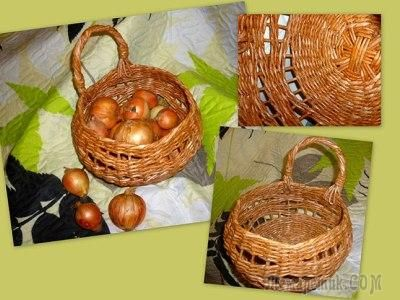 Изумительный handmade: Корзинка для лука