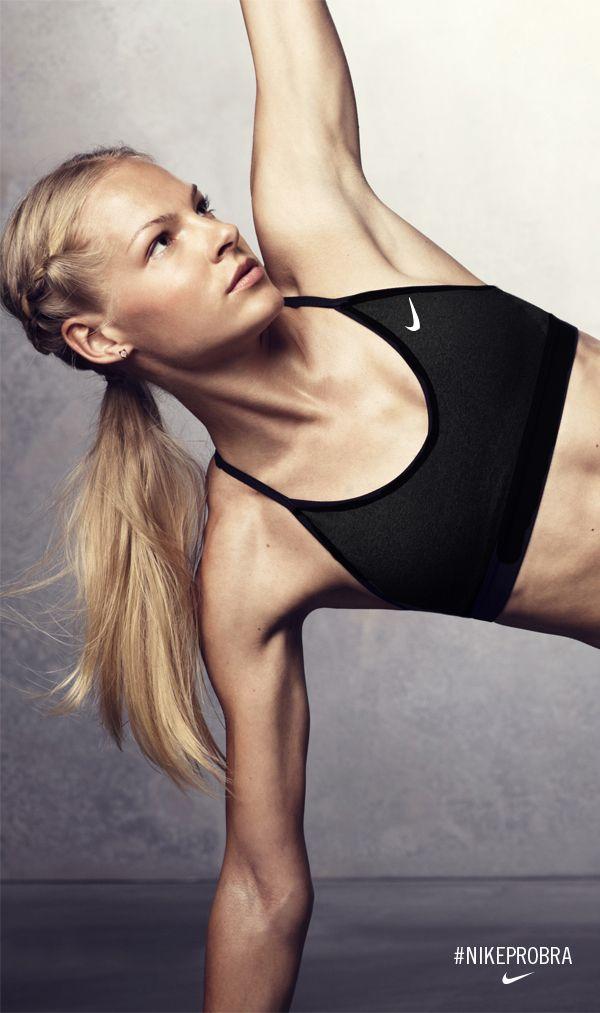 Darya Klishina takes her training to the studio in the Nike Pro Indy. #NikeProBra