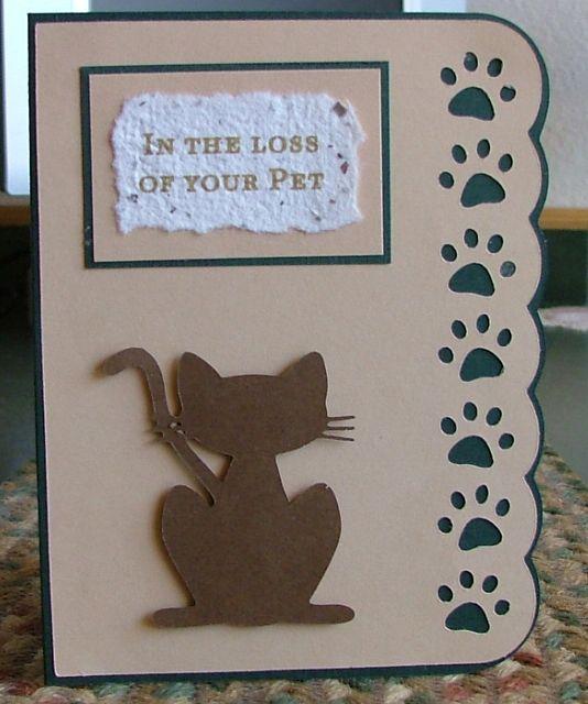 Card Making Ideas Sympathy Part - 44: Pet Sympathy Card