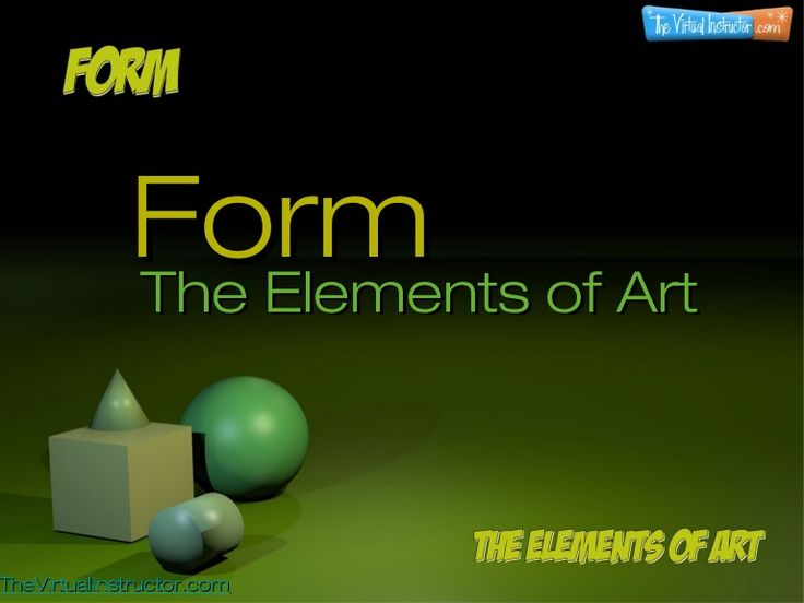 Elements Of Art Form Examples : Best images about shape form a v arts on pinterest