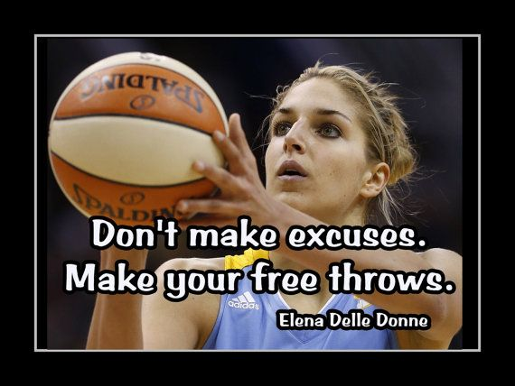 Basketball Motivation Elena Delle Donne Chicago Sky Photo Quote Poster Wall Art…