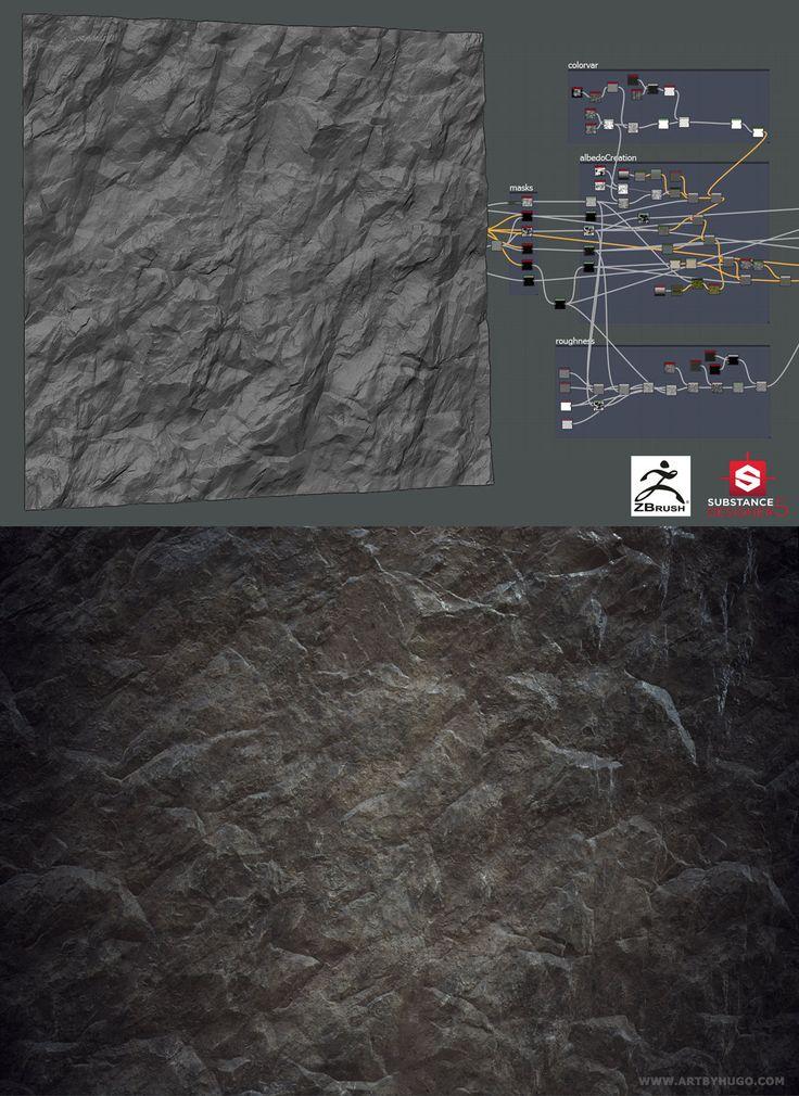 Rock Mateiral - Zbrush and SD5 combo!, Hugo Beyer on ArtStation at https://www.artstation.com/artwork/rock-mateiral-zbrush-and-sd5-combo