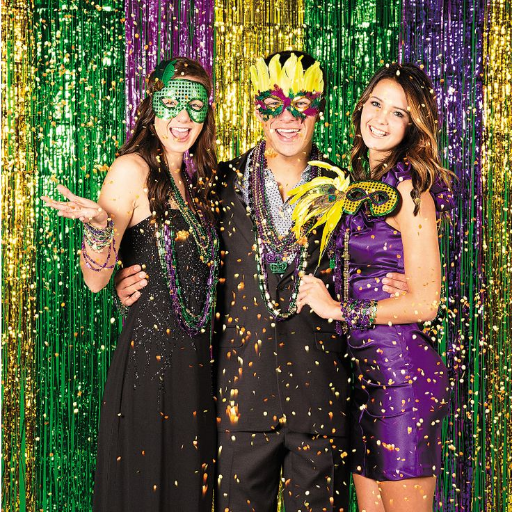 Mardi Gras Photo Booth - OrientalTrading.com