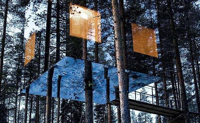 The Treehotel, set in the forests of Harads, Sweden