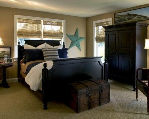 Teen Boys Bedroom: Wall Colors, Guest Bedrooms, Bedrooms Design, Boys Bedrooms, Traditional Bedrooms, Boys Rooms, Master Bedrooms, Black Furniture, Bedrooms Ideas