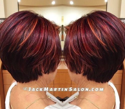 burgundy+hair+with+orange+highlights