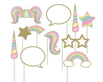 Unicorn Photo Prop Birthday Photo Booth Unicorn Party Birthday