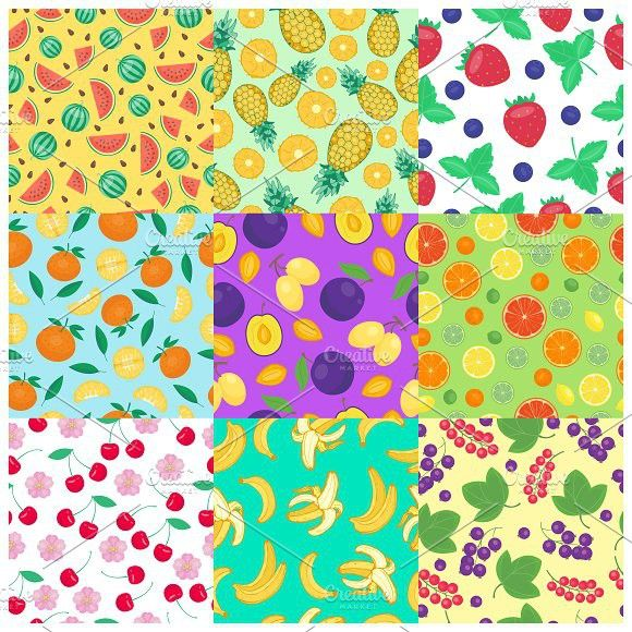 Seamless pattern with fruits vector. Diet #vector #illustration