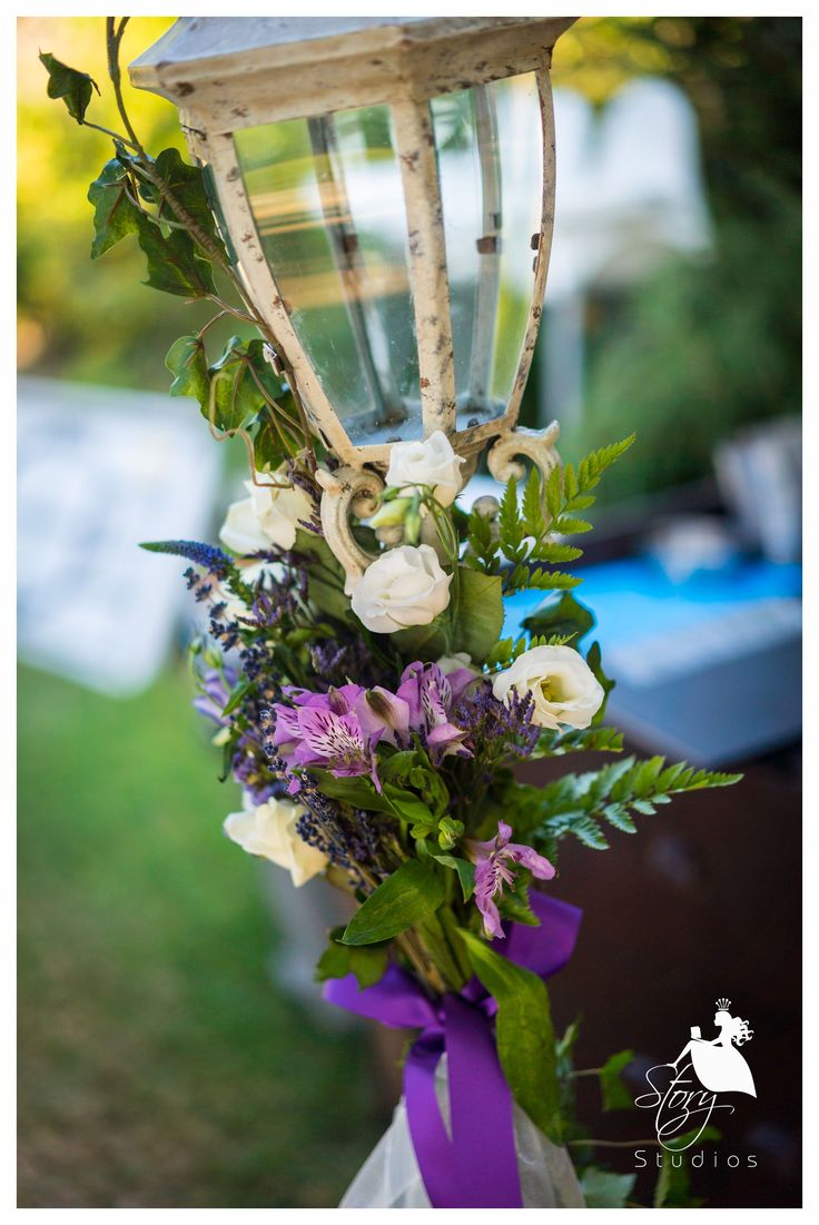 Beautiful lilac and emerald wedding flowers!