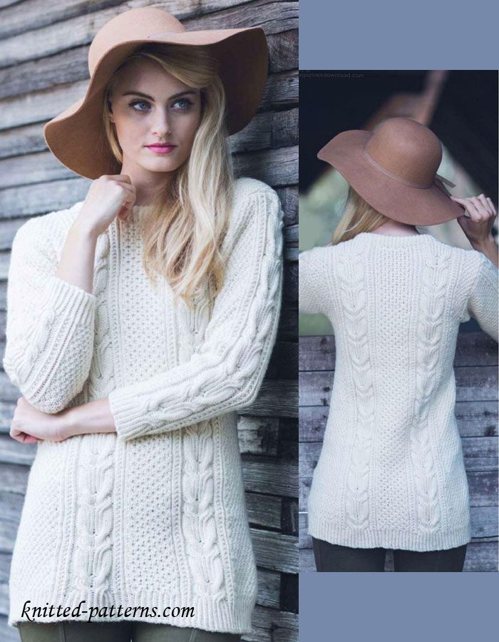 Twisted cable pullover knitting pattern free