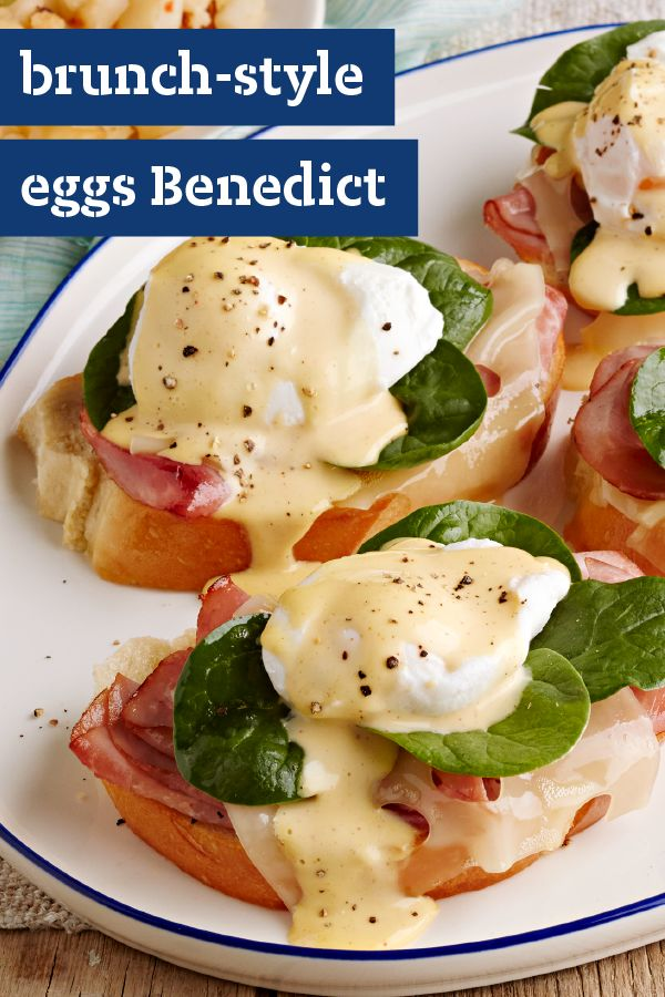 Brunch-Style Eggs Benedict – You don't have to eat out to enjoy your favorite brunch flavors. This savory breakfast recipe is everything you need for a great weekend brunch! Since it's ready in just 20 minutes, this would also be a great addition to your Easter menu.