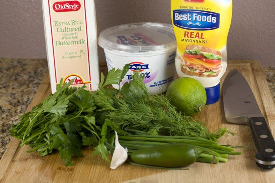 Jalapeno Ranch Dressing - recipe thanks Katie!