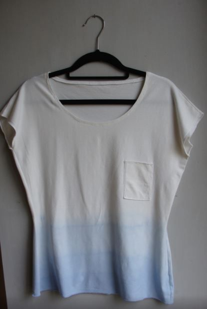 basic t - organic bamboo and cotton blue dip dyed