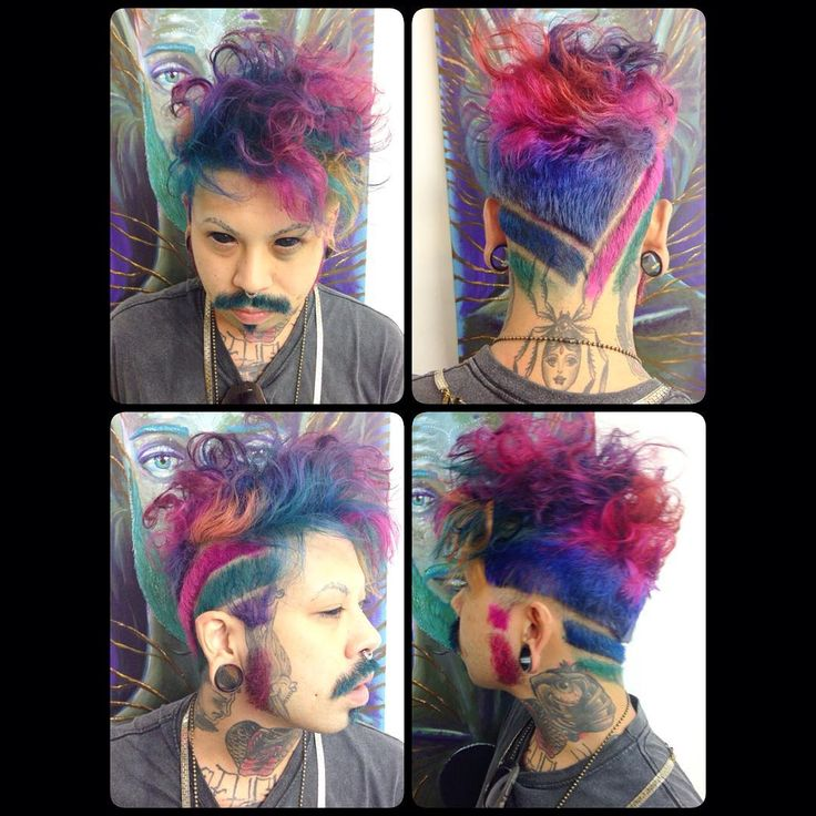 #novoarte #purplehair #bluehair #pinkhair #greenhair #cabeloscoloridos #boyswithdyedhair #rainbowhair