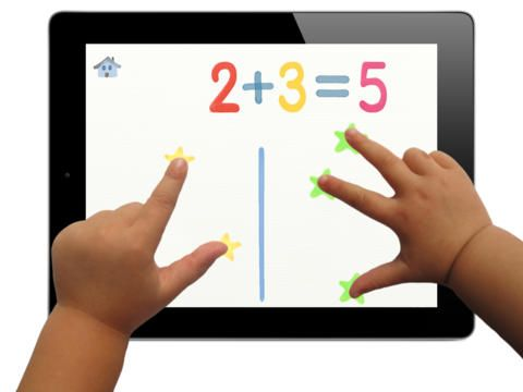 "10 fingers offers children an intuitive game so they can become familiar with numbers and numerals. Children can also begin having fun with addition.  This innovative app uses the multi-touch feature on the iPad screen. When the child puts 3 fingers onto the screen, the digit ""3"" displays, and the word ""three"" is pronounced.  This app is designed for children from 3 to 6 years old. Younger children may enjoy 10 fingers once they start counting ""1, 2, 3""."