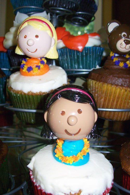 Luau Birthday Cupcake Toppers