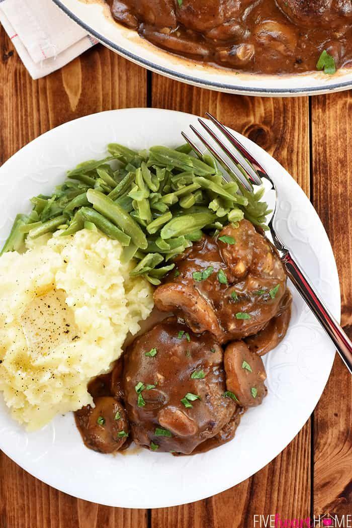 Easy Beef Patties With Mushroom Gravy Aka Mini Salisbury Steaks In A Rich Savory