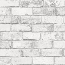 Papier peint vinyle intissé brique blanche Arcelot