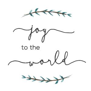 Joy to the World Printable {free}
