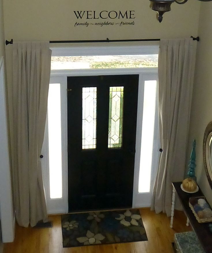 1000 ideas about front door curtains on pinterest door for Front door curtain ideas