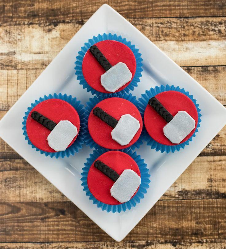 Marvel Cupcakes - Thor Ragnorok Inspired Cupcake Recipe