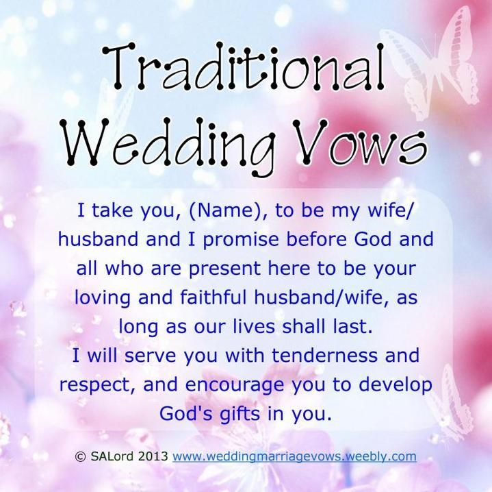 Wedding Vow Examples: Printable Romantic Phrase