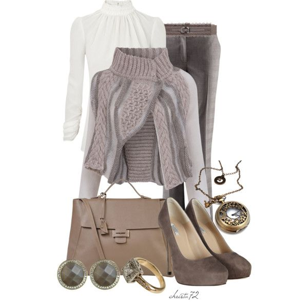 Cropped Cardigan by christa72 on Polyvore featuring polyvore, fashion, style, Crea Concept, Alexander McQueen, H&M, AllSaints, Myriam Schaefer, Danielle Stevens Jewelry and Mitch Preston