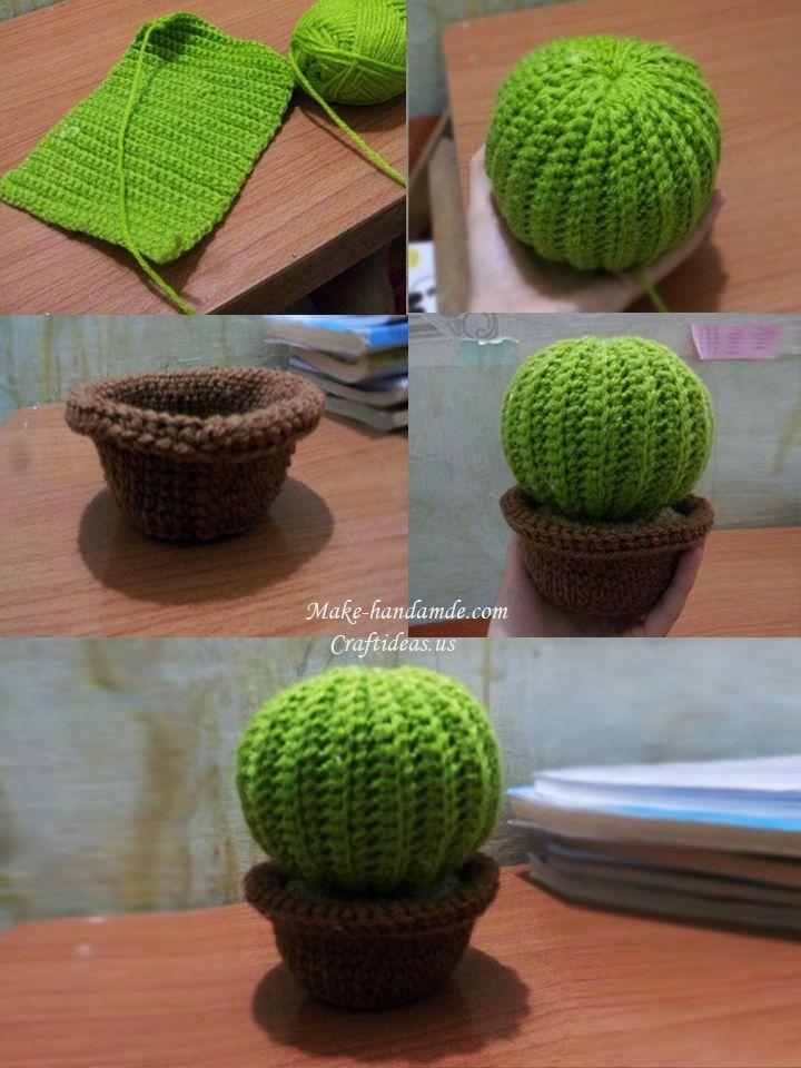 häkeln Sie einfache Kaktusideen