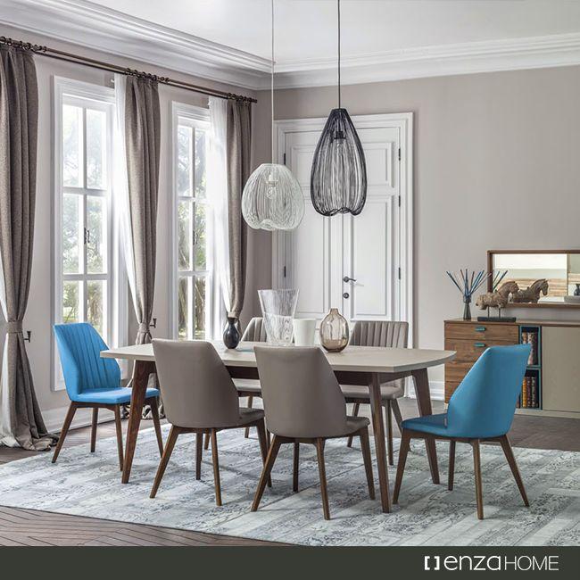 #Santiago ##Yemek Odası Takımı ile her #akşam yemeğiniz, #ziyafet tadında olsun.#Tasarım #Ev #Dekor #Enza #Home