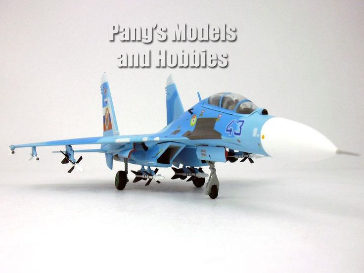 SU-27 (SU-27UB) Flanker-C Russian Air Force Blue Camo 43 1/72 Diecast Metal Model by JC Wings