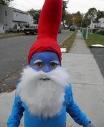 Great site for homemade halloween costumes. This smurf made me lol