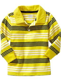 Long-Sleeve Striped Polos  Size 18-24 months REG CA$12.94 Sale CA$10.00