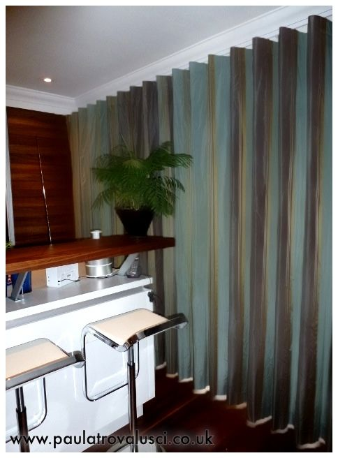 Wave Curtains by www.paulatrovalusci.co.uk #bifold #wavecurtains #moderncurtains