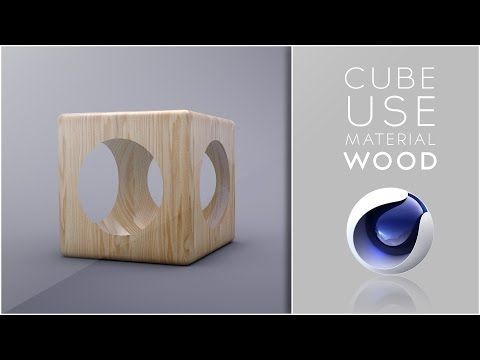 Cube use material wood - Cinema 4D Tutorial - YouTube