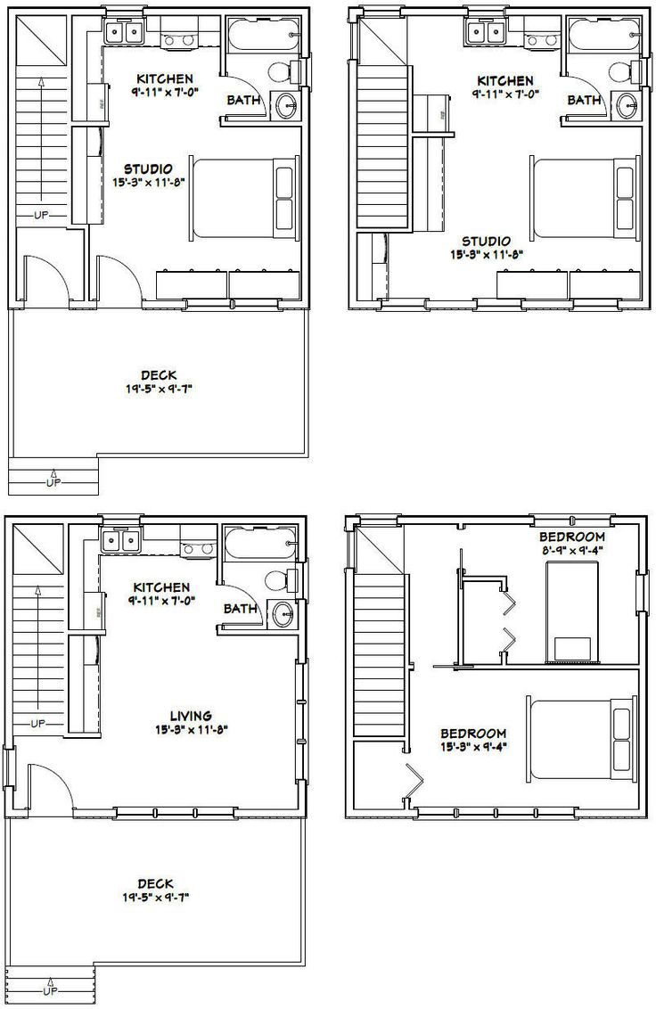 20x20 houses pdf floor plans 683 sq ft for 20x20 house