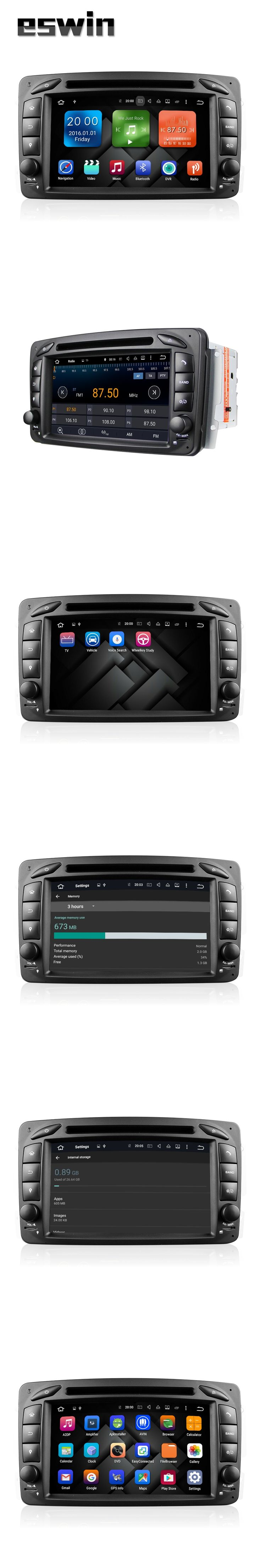 8 Core Android 6.0.1 Car DVD Player For Mercedes/Benz/W209/W203/W168/M/ML/W163/W463/Viano/W639/Vito/Vaneo Wifi GPS FM Radio USB