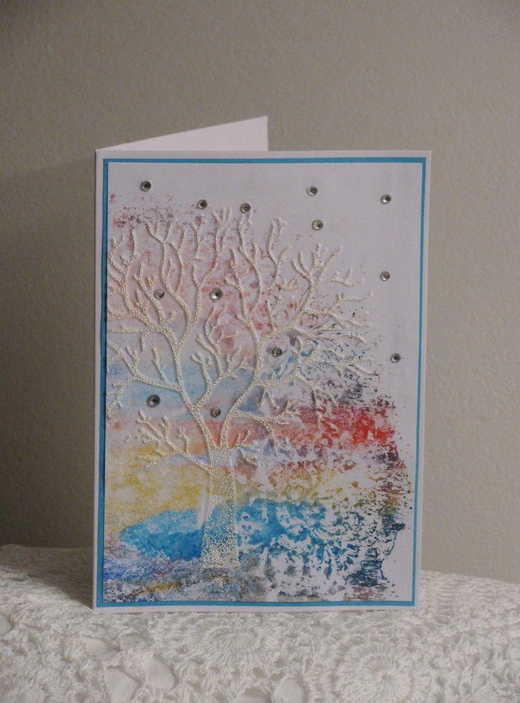 Z krajiny snů - přání Přání z autorského papíru kolorovaného akvarelovými barvami. Součástí je bílá obálka.