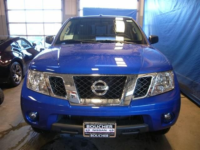 2014 Nissan Frontier SV 4x4 SV 4dr Crew Cab 5 ft. SB Pickup 6M Pickup 4 Doors Blue for sale in Greenfield, WI Source: http://www.usedcarsgroup.com/new-nissan-frontier-for-sale