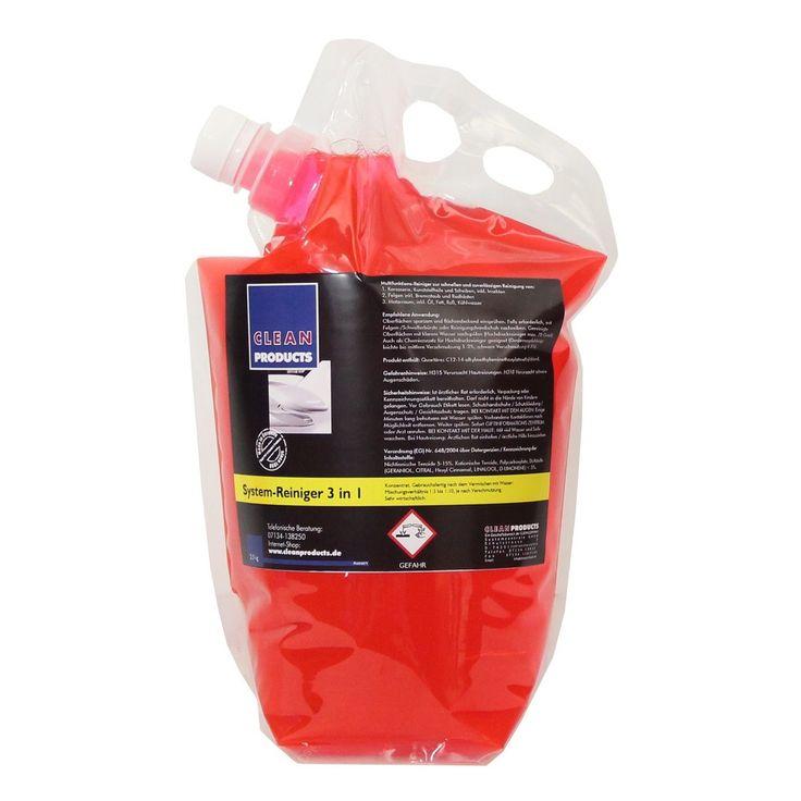 CLEANPRODUCTS Fahrzeug-Außen-Reiniger 3 in 1 (Konzentrat) - 2,5 kg  Das moderne Autoshampoo: Shampoo, Insektenentferner / Insektenreiniger, Felgenreiniger und Motorraumreiniger in einem Produkt. 3 in 1 System-Reinigungsmittel für die Fahrzeugreinigung und Fahrzeugpflege. Ideal für die Autoaufbereitung bzw. Fahrzeugaufbereitung.