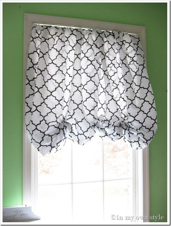 Great curtain! No sew, made from a fitted full size sheet, spring tension rod, and ribbon.