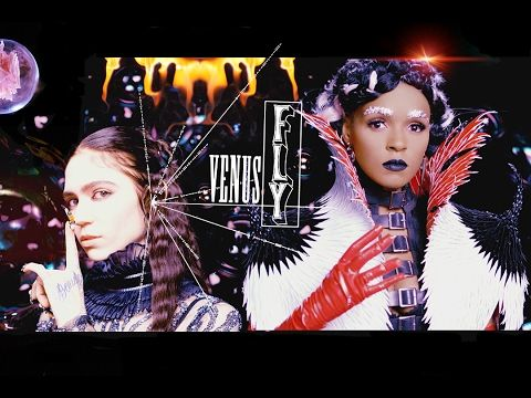 """Watch Grimes and Janelle Monáe's Futuristic Cybergoth """"Venus Fly"""" Video   Pitchfork"""