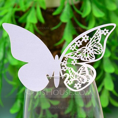 Wedding Decorations - $3.49 - Butterfly Design Pearl Paper Place Cards (set of 12) (131037410) http://jjshouse.com/Butterfly-Design-Pearl-Paper-Place-Cards-Set-Of-12-131037410-g37410
