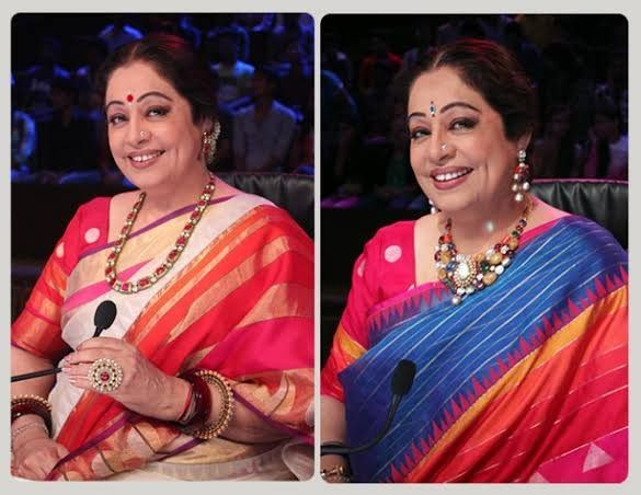 Kiron Kher Sarees in Gaurang Shah Sarees. Description by Pinner Mahua Roy Chowdhury