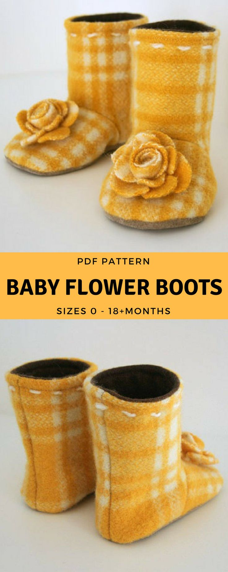 Nähen Sie diese wunderbar fröhlichen Stiefel, um die kleinen Füße in diesem Winter kuschelig warm zu halten …   – Sewing things for Baby