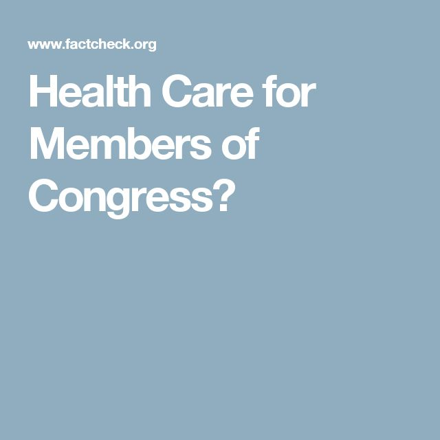 Health Care for Members of Congress?