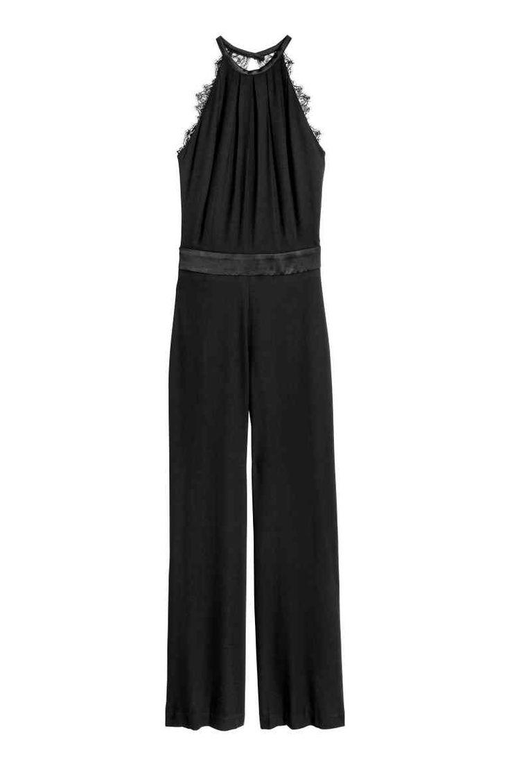 Combi-pantalon sans manches - Noir - FEMME | H&M FR