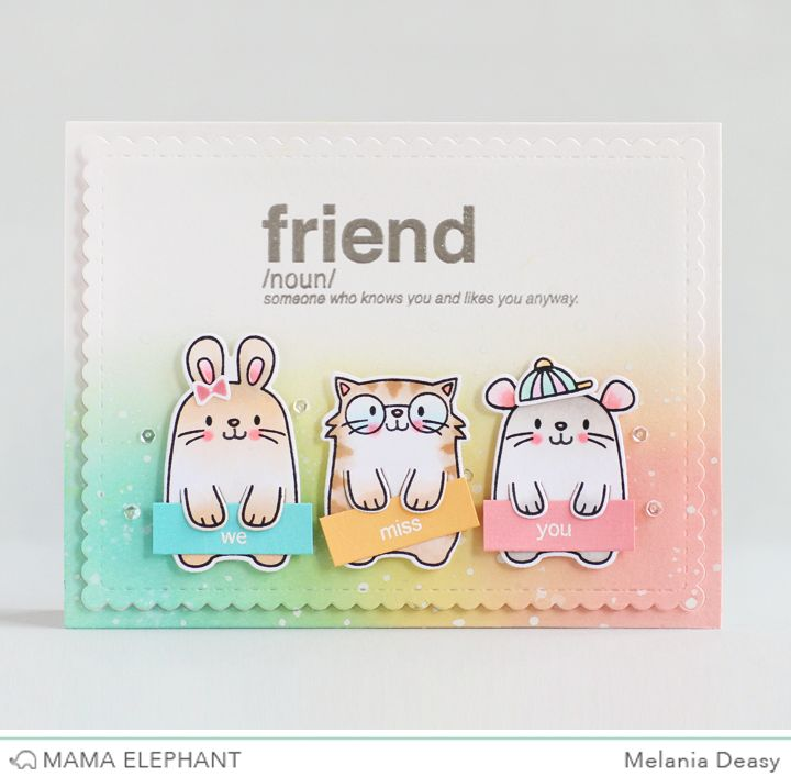 Mama Elephant Stamp Highlight Words Defined Three amigos