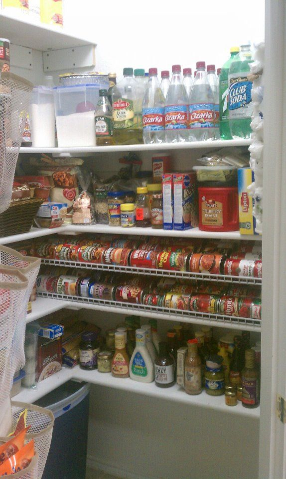 My pantry organization project gravity can rack made from
